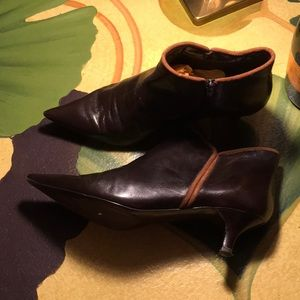 Bandolino Dress Booties Brown 10